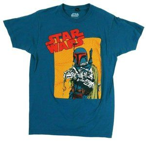 Star Wars Mens T Shirt Turquoise Colorful Mandalor